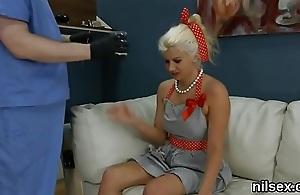 Frisky teenie is taken in butt hole nuthouse for awkward therapy