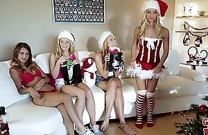 GIRLS GONE Bad - Horny Sorority Sisters Celebrate Christmas With Hot Lesbian Sex