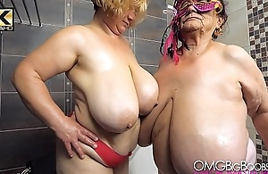 2 older ladies with huge tits