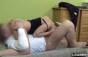Young Super Slut Uses Her Tits &amp_ Pussy To Get Loan Acknowledgement