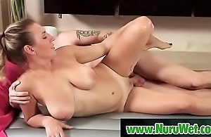 Masseuse Mila Brite getting fucked by her client Axel Aces