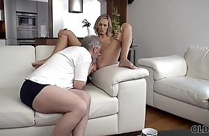 OLD4K. Old daddy fingers wife'_s twat to prepare it for impending sex