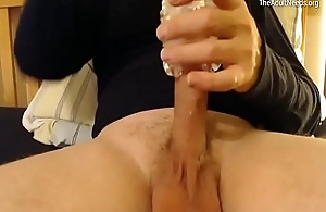 Man Moaning and Masturbating with Sex Toy