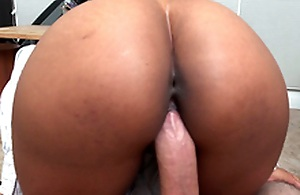 Secretary Arianna Knight rides her boss's cock in a pov communication