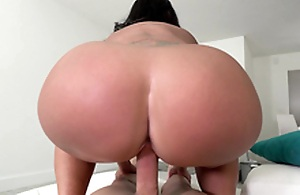 Big arse maid Kailani Kai reverse cowgirl riding her boss