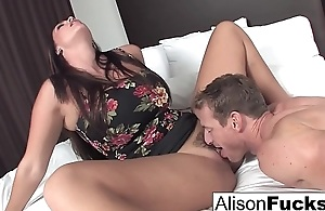 Alison hires a friend for someone's skin evening who gives her a good fuck