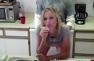 Sexy wife is fucked in the kitchen