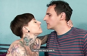 HITZEFREI Tattooed German babe fucks her stepbrother